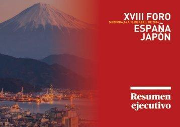 XVIII FORO ESPAÑA JAPÓN