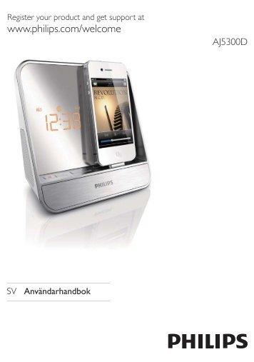 Philips Radio-réveil pour iPod/iPhone - Mode d'emploi - SWE
