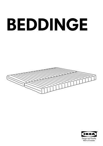 Ikea BEDDINGE LÖVÅS materasso - 10102055 - Istruzioni di montaggio
