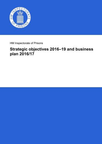 Strategic objectives 2016–19 and business plan 2016/17