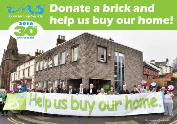 Donate a brick and help us buy our home!