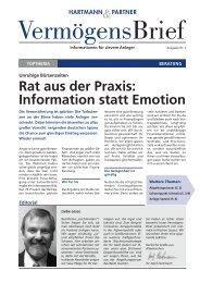 Rat aus der Praxis: Information statt Emotion