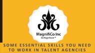 Some Essential Skills You Need To Work - MAGNIFICO INC