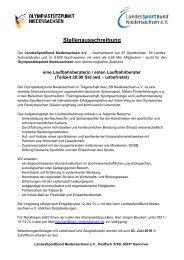 Stellenausschreibung Laufbahnberatung OSP