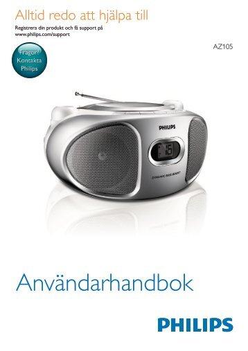 Philips Lecteur de CD - Mode d'emploi - SWE