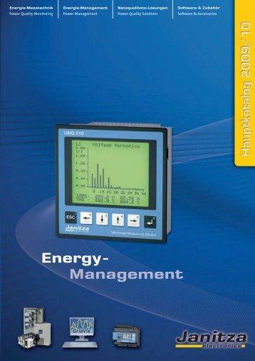 Energie-Management Power Management - Janitza Electronics GmbH