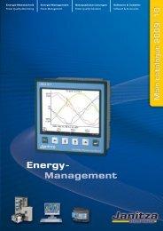 Janitza - Main catalogue 2009/10 - Janitza Electronics GmbH