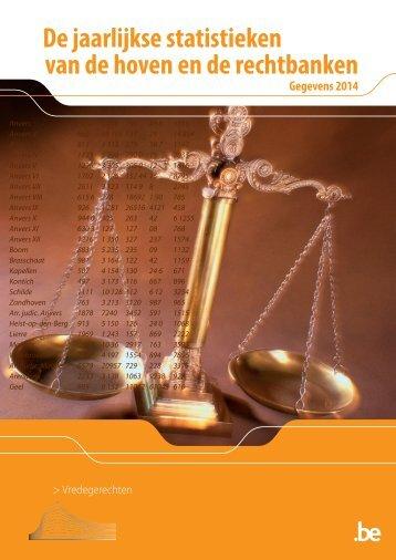 De jaarlijkse statistieken van de hoven en de rechtbanken