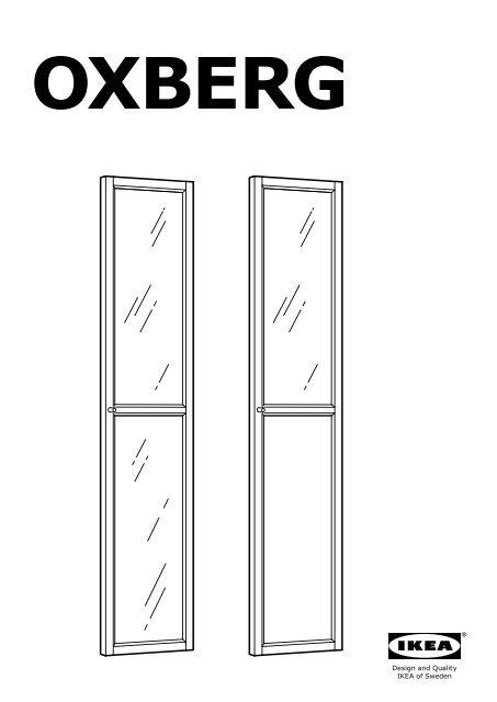 Ikea Libreria Billy Ante.Ikea Billy Oxberg Libreria S89017832 Istruzioni Montaggio Pdf