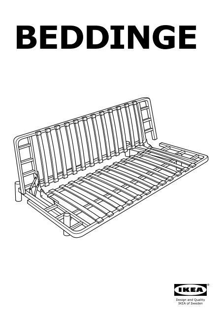 3 Posti Divano Letto Ikea Beddinge.Ikea Beddinge Struttura Divano Letto A 3 Posti 10031628 Istruzioni Di Montaggio