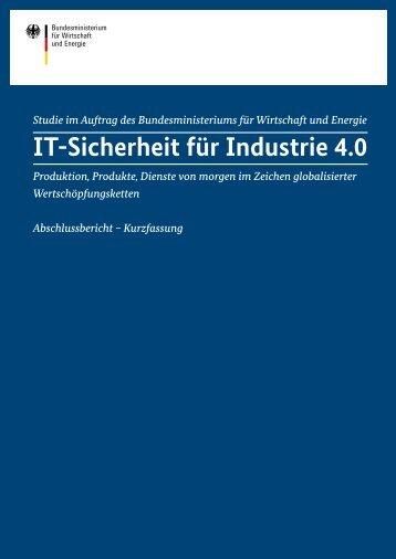 IT-Sicherheit für Industrie 4.0