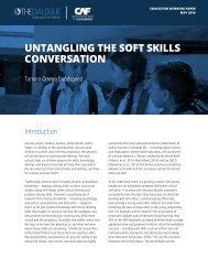 UNTANGLING THE SOFT SKILLS CONVERSATION