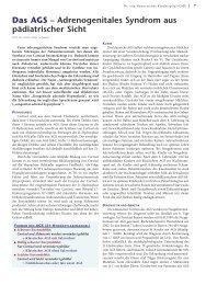 Das AGS – Adrenogenitales Syndrom aus ... - Hauner Journal