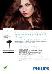 Philips Sèche-cheveux Pro - Fiche Produit - FRA