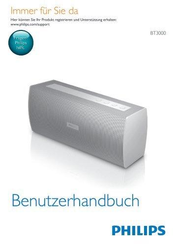 Philips Enceinte stéréo sans fil - Mode d'emploi - DEU