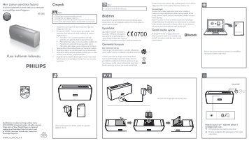 Philips Enceinte stéréo sans fil - Bref mode d'emploi - TUR