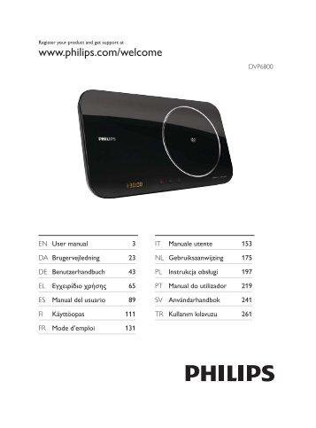 Philips Lecteur DVD - Mode d'emploi - SWE