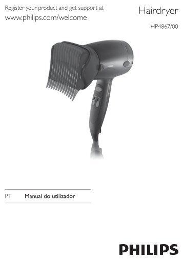 Philips SalonDry 'n Straight Sèche-cheveux - Mode d'emploi - POR