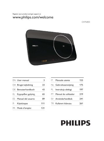 Philips Lecteur DVD - Mode d'emploi - TUR