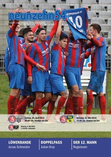 neunzehn54, Doppelausgabe 1. FC Bocholt-TSV Meerbusch. Heft 12, Saison 2015/16