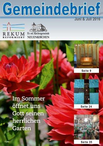 Gemeindebrief Rekum Juni / Juli 2016