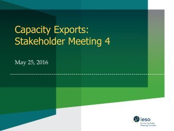 Capacity Exports Stakeholder Meeting 4
