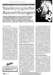 Toxikologische Auswirkungen - KOPS - Universität Konstanz