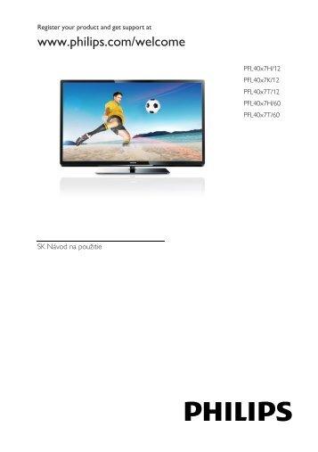 Philips 4000 series Téléviseur LED Smart TV - Mode d'emploi - SLK