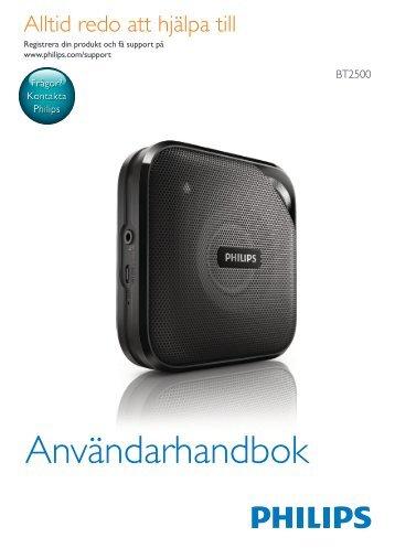 Philips enceinte portable sans fil - Mode d'emploi - SWE