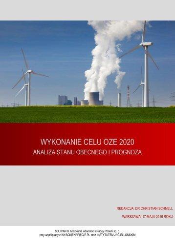 WYKONANIE CELU OZE 2020