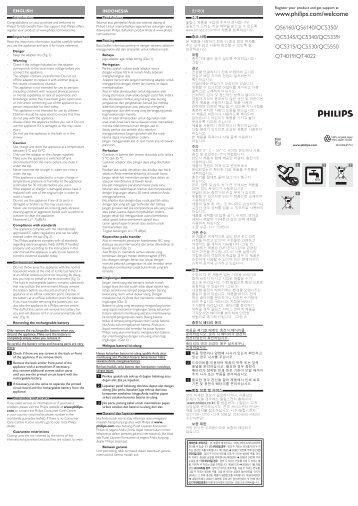 Philips Norelco Tondeuse cheveux professionnelle - Instructions avant utilisation - IND