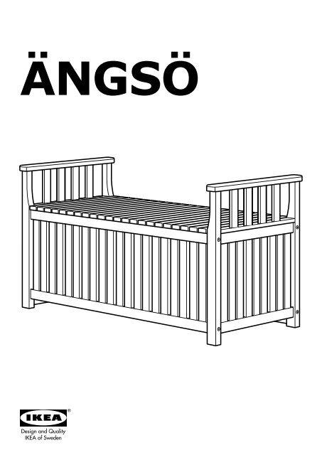 Ikea Panchine Da Giardino.Ikea Angso Panca Con Contenitore Da Giardino 90238192 Istruzioni