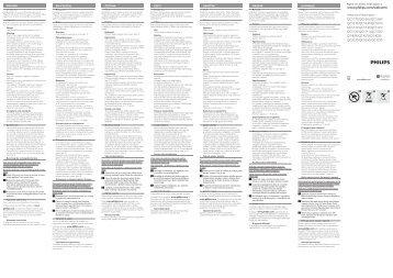 Philips Multigroom Tondeuse multistyles - Instructions avant utilisation - SLK