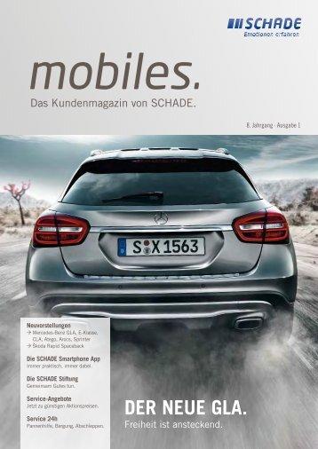 "SCHADE Kundenmagazin ""mobiles"" 2013"