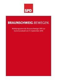 Wahlprogramm der SPD-BS-2016