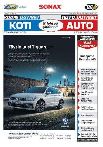 Turun seudun Autouutiset toukokuu 2016