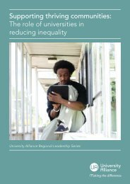 Supporting thriving communities The role of universities in reducing inequality