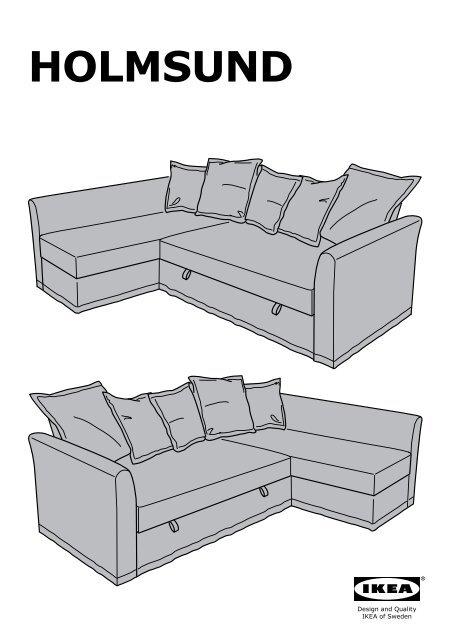 Ikea Holmsund Divano Letto Angolare S89048640 Istruzioni Di