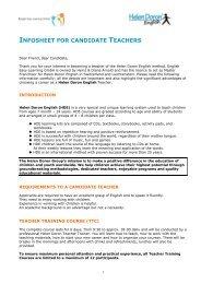 TTC Info Candidate Teacher