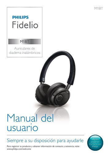 Philips Fidelio Casque Bluetooth - Mode d'emploi - ESP