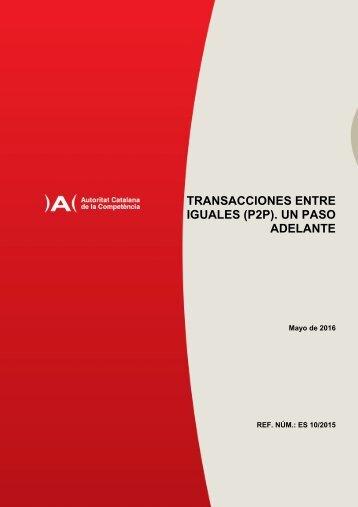 TRANSACCIONES ENTRE IGUALES (P2P) UN PASO ADELANTE