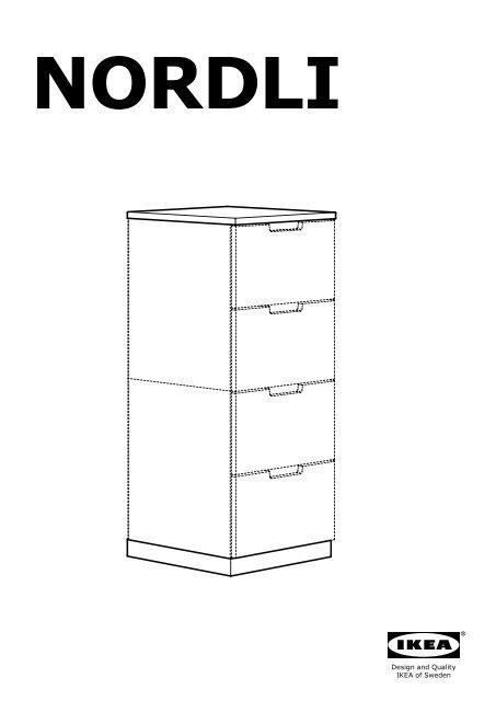 Cassettiera Ikea 3 Cassetti.Ikea Nordli Cassettiera Con 3 Cassetti S89021136 Istruzioni