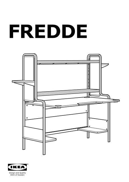 Ikea FREDDE mobile studio - 50219044 - Istruzioni di montaggio