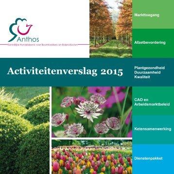Activiteitenverslag 2015 - Anthos
