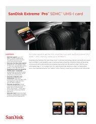 SanDisk Extreme® Pro™ SDHC™ UHS-I card