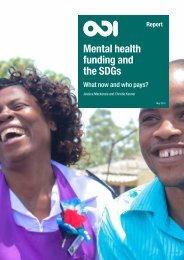 Mental health funding and the SDGs