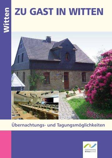 "Prospekt ""Zu Gast in Witten"" - Stadtmarketing Witten"