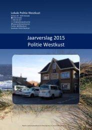 Jaarverslag 2015 Politie Westkust