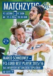 FC LUZERN Matchzytig N°16 15/16 (RSL 36)