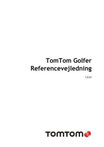 TomTom Guide de référence de Golfer - PDF mode d'emploi - Dansk